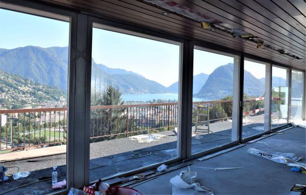 Lugano/Porza, termoriflettente Piscina